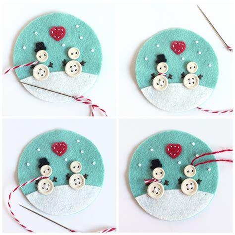 felt christmas ornaments cute diy christmas ornaments and decorations