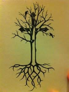 Celtic Tree of Life Cross Tattoo