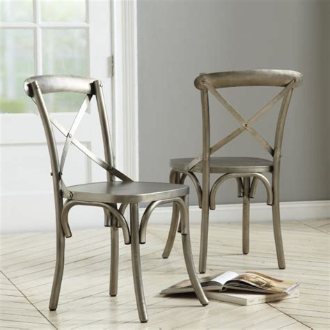 constance metal dining chairs set of 2 chionship