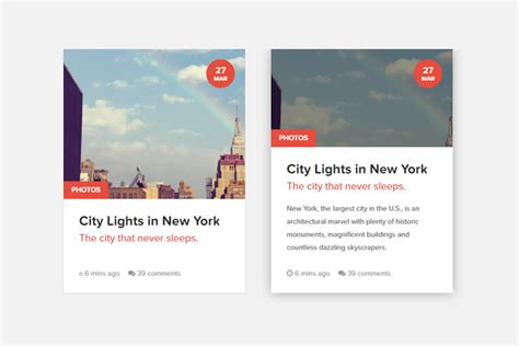 code snippets  creating css content cards