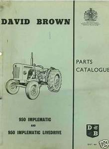 David Brown Tractor 950 Implematic Parts Manual