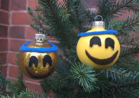 halo emoij christmas ornament