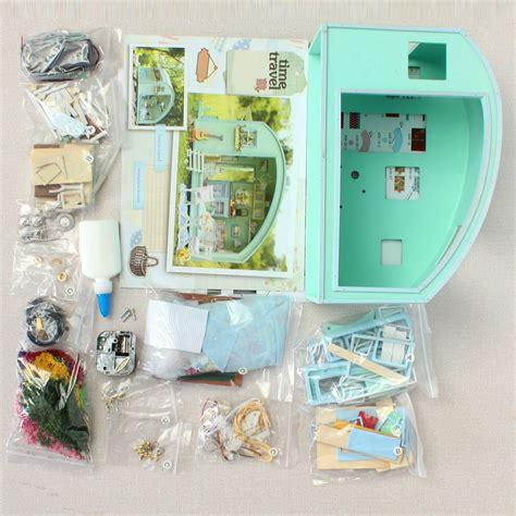 cuteroom diy wooden dollhouse miniature kit doll house led