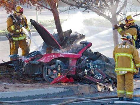 Sheriff: Two men stole parts of Paul Walker crashed car