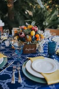 Round Reception Table Mediterranean Travel Inspired Outdoor Bradenton Wedding