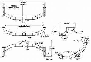 dimensions of the curt trailer hitch part c13161 With curt wiring