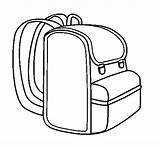 Backpack Coloring Coloringcrew sketch template