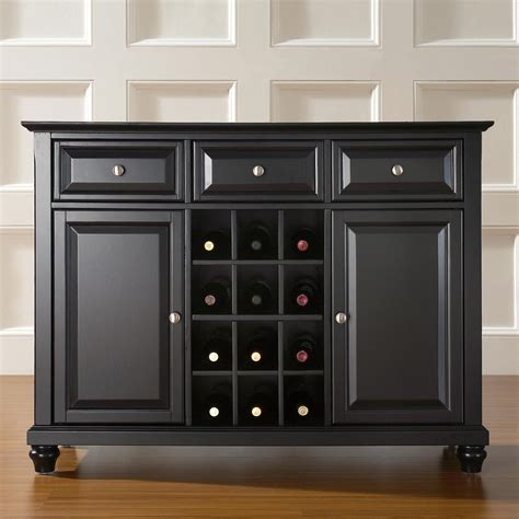 Crosley Cambridge Buffet Server With Wine Storage Wine