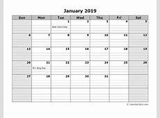 2019 Monthly Calendar FREE DOWNLOAD Freemium Templates