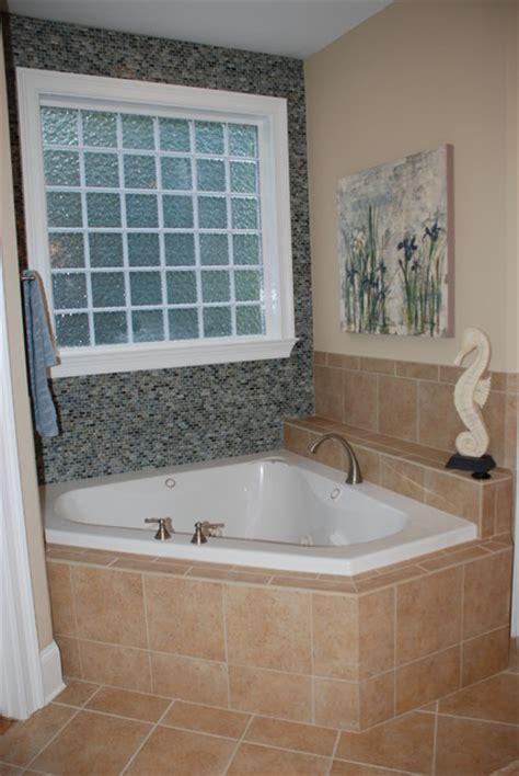 Garden Tub Bathroom by Glass Tile To Accent Garden Tub Bathroom Other Metro