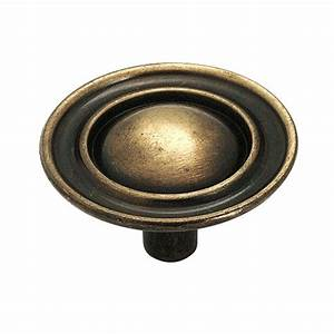 amerock 1 1 2 in antique brass cabinet knob 159abs the With home depot furniture knobs