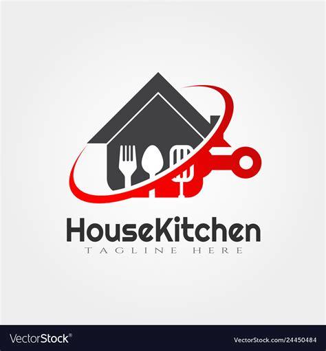 house kitchen logo designfood icon royalty  vector image