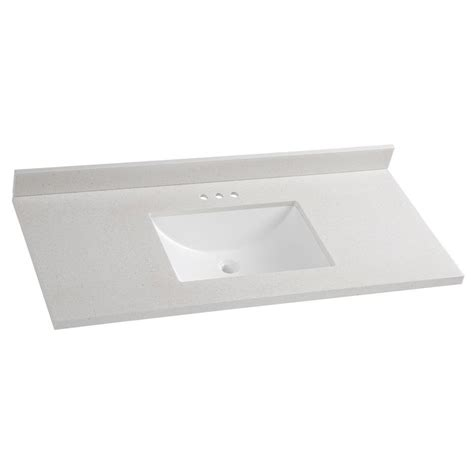 Glacier Bay Bath Vanity Tops by Glacier Bay 49 In Solid Surface Vanity Top In Titanium