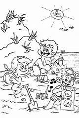 Coloring Beach Pages Printable Scene Sheets Diversity Cultural Getcolorings Getdrawings Ingrahamrobotics sketch template