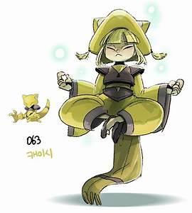#63. Abra (humanized/gijinka pokemon series by tamtamdi on ...  Abra