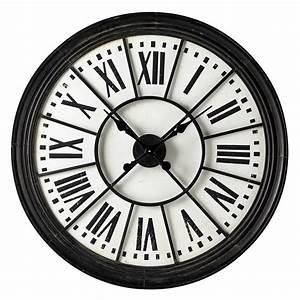 Horloge En Metal : horloge en m tal noire d 91 cm montmorency maisons du monde ~ Teatrodelosmanantiales.com Idées de Décoration