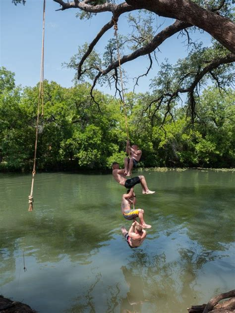rope swing rope swing at christoval swimming holes