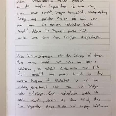 aufsatz muss ich cool sein deutsch schule lehrer
