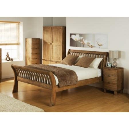 mountrose olivia solid pine curved double bed frame