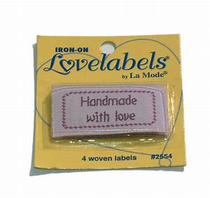 handmade with love sew in labels With handmade with love sewing labels