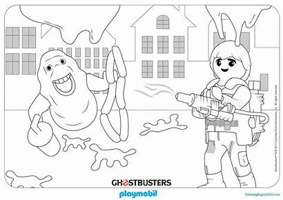 Playmobil Coloring Pages Ghostbusters Dragon Colouring Sheet