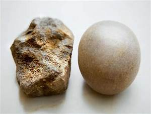 Stock Illustration - rough stone and smooth stone