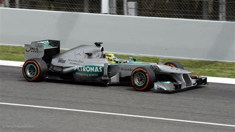 Mercedes f1 w04 (bs) formula one car (en); Rosberg . Mercedes F1 W04 . 2013 GP F1 Spain. FP2. DSC_555…   Flickr