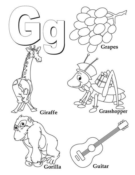 coloring book letter  coloring page