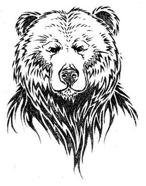 simple-design-of-bear-face-tattoo - Tattoos Book