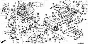 Honda Motorcycle 2006 Oem Parts Diagram For Trunk Box