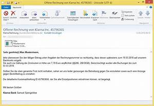 Frist Rechnung : offene rechnung von klarna inc 45796365 von klarna rechnung kundendienst oder ~ Themetempest.com Abrechnung