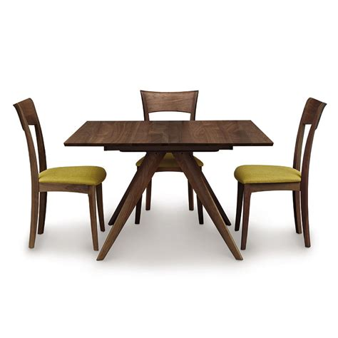 square extension dining table square walnut extension table by copeland 5667