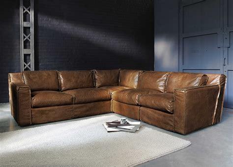 canapé d angle maison du monde canapé d 39 angle vintage 4 places morrison en cuir cognac