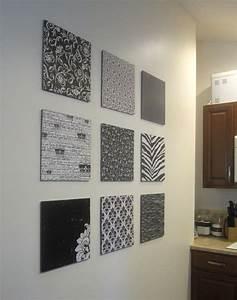Diy scrapbook paper wall art empty