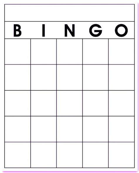 free bingo template free blank bingo card template printable