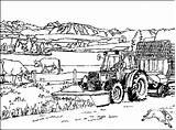 Coloring Farm Tractor Bauernhof Ausmalbilder Malvorlagen Boerderij Malvorlage Kleurplaten Coloriages Ranch Animierte Printable Colouring Granja Bauernhaus Dibujos Gifs Ausmalbild Ferme sketch template