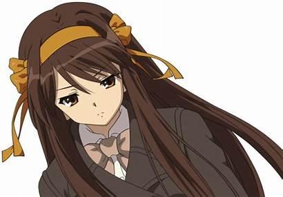 Anime Character Haruhi Suzumiya Personality Eyes Brown