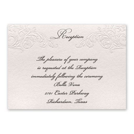 elegance  grace reception card invitations  dawn