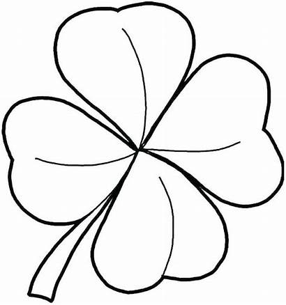 Shamrock Coloring Pages Trinity Printable Template Clover