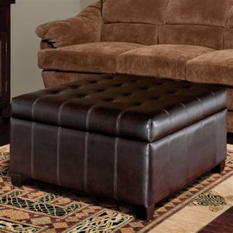 Isabella Bonded Leather Storage Ottoman  New Living Room