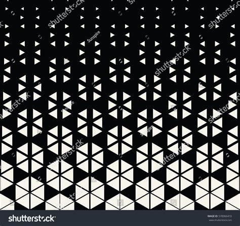 abstract geometric hexagon halftone gradient pattern stock