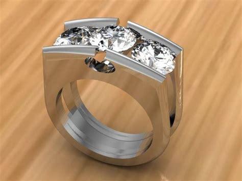 stone diamond tension set ring raddest mens fashion