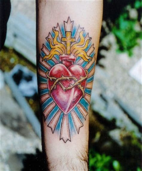 sacred heart tattoo images pictures  ideas