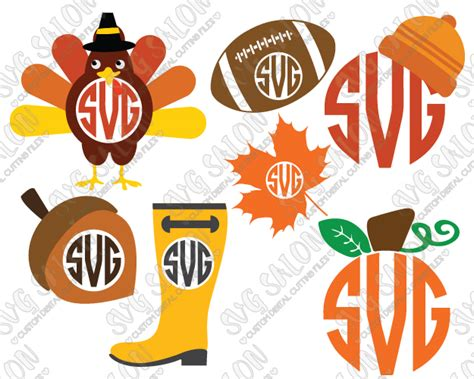 Some thanksgiving svg may be available for free. Thanksgiving Monogram SVG Cut File Set