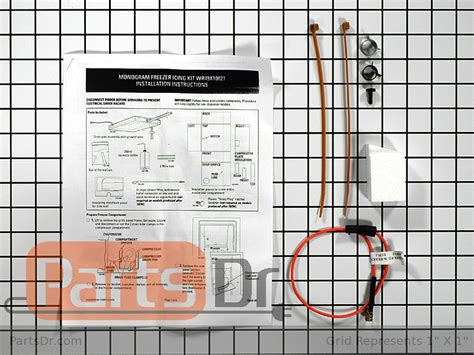 wrx ge refrigerator de icing kit parts dr