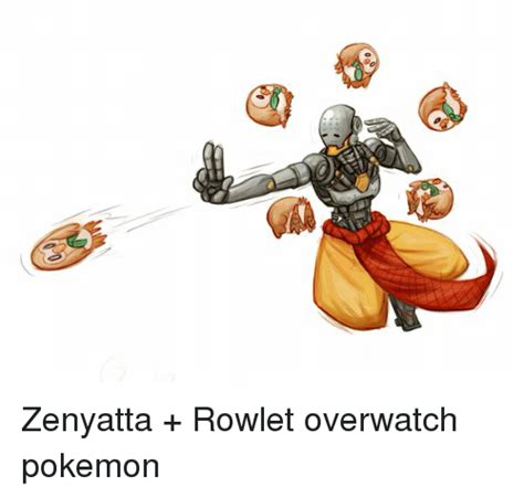 Zenyatta Memes - zenyatta rowlet overwatch pokemon meme on me me