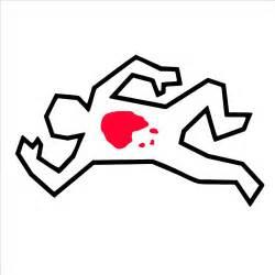 Cartoon Dead Body Outline