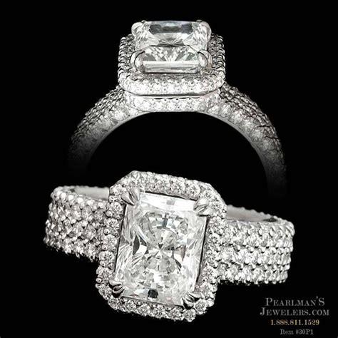 Michael B Jewelry Elegant Platinum 3row Trois Flatband