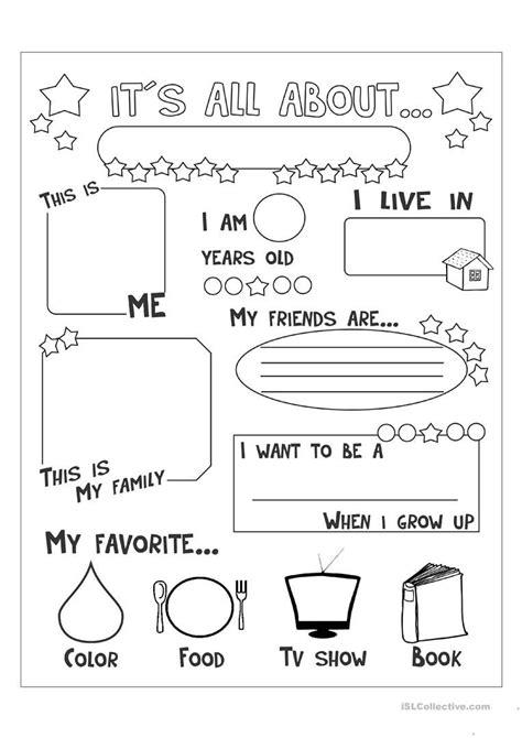 all about me worksheet free esl printable worksheets