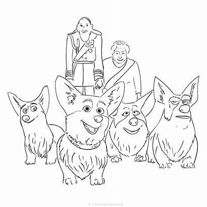 Corgi Coloring Queen Pages Queens Dog